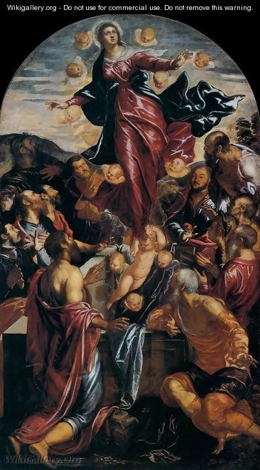 Assumption of the Virgin 2 - Jacopo Tintoretto (Robusti)