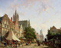 Dutch Street Scene - Adrianus Eversen