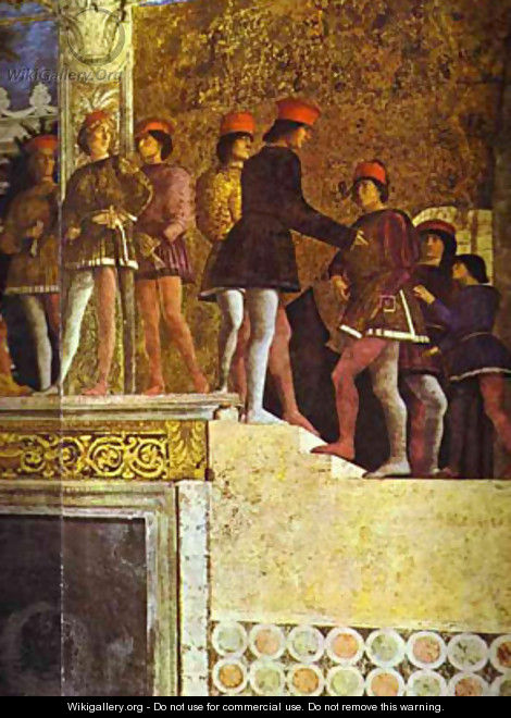 The Gonzaga Family And Retinue Detail 3 1465-74 - Andrea Mantegna