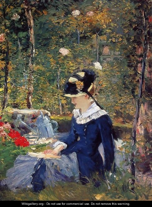 Young Woman in the Garden 1880 - Edouard Manet