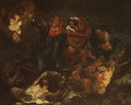 Copy after Delacroix's Bark of Dante ca. 1859 - Edouard Manet