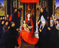 The Virgin And Child Between St James And St Dominic Presenting The Donors And Their Families Known As The Virgin Of Jacques Floreins - Hans Memling