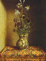 Still Life With A Jug With Flowers The Reverse Side Of The Portrait Of A Praying Man 1480-1485 - Hans Memling
