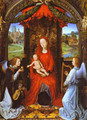 Madonna And Child With Two Angels - Hans Memling