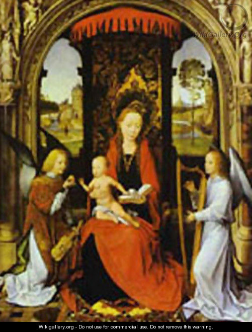 Madonna And Child With Angels 1480 - Hans Memling
