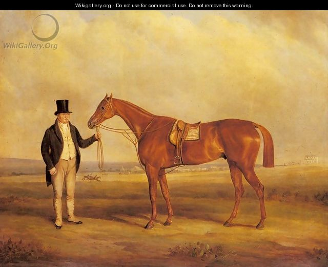 A Gentleman Holding Dangerous the Winner of the 1833 Derby - John Jnr. Ferneley