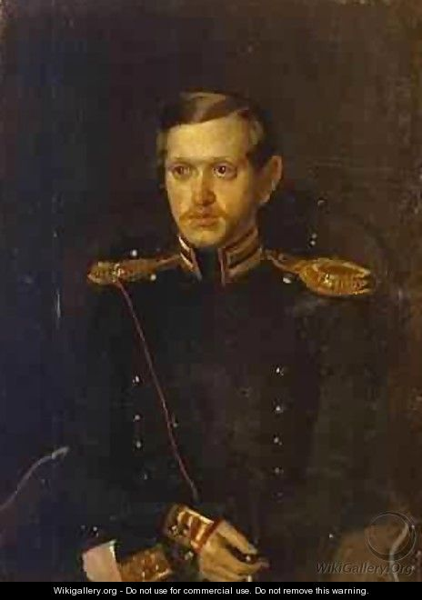 Portrait Of S S Krylov 1850-51 - Pavel Andreevich Fedotov