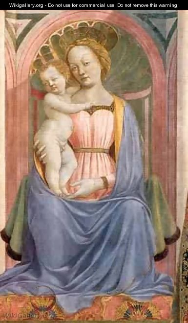 The Madonna And Child With Saints (Detail) 1 1445 2 - Domenico Di Michelino