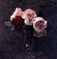 Still Life of Pink and Red Roses - Ignace Henri Jean Fantin-Latour