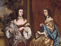 Mary Capel Later Duchess of Beaufort and Her Sister Elizabeth Countess of Carnarvon - Sir Peter Lely