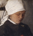 Peasant Girl with a White Headcloth 1885 - Wilhelm Leibl