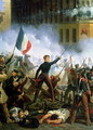 Battle in the Rue de Rohan 28th July 1830 1831 - Charles Emile Hippolyte Lecomte-Vernet