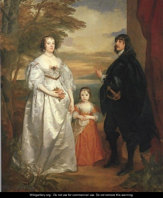 James Seventh Earl of Derby His Lady and Child 1641 - Sir Anthony Van Dyck