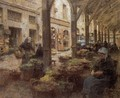 The Covered Vegetable Market St Malo (no.2) 1893 - Leon Augustin Lhermitte