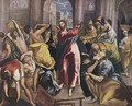 Christ Driving The Traders From The Temple C 1600 - El Greco (Domenikos Theotokopoulos)