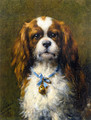 A King Charles Spaniel with a Blue Ribbon - Otto Eerelman