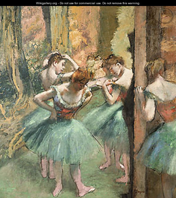 Dancers Pink and Green ca. 1890 - Edgar Degas