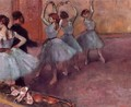 Dancers in Light Blue (aka Rehearsing in the Dance Studio) 1882 - Edgar Degas