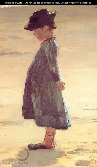 Nina en la playa - Peder Severin Kroyer