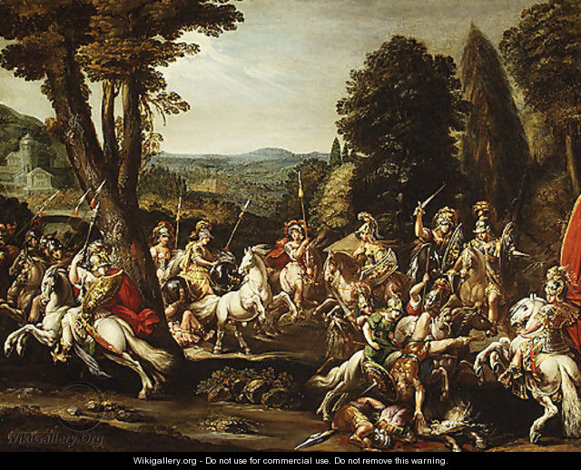 Triumph of the Amazons 1620s - Claude Deruet
