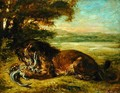 Lion and Alligator 1863 - Eugene Delacroix