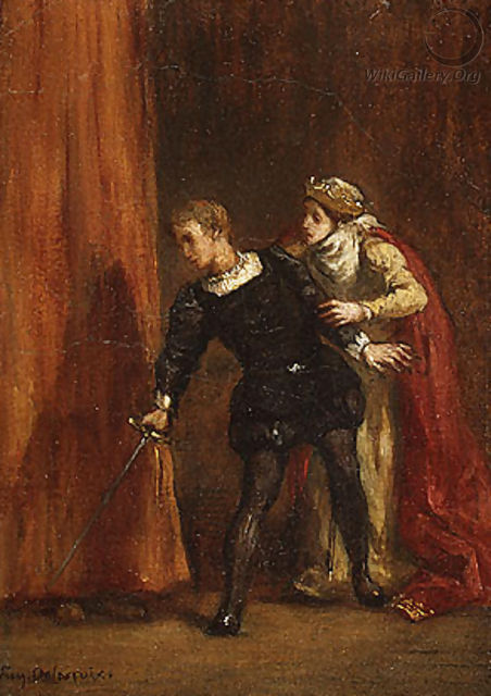 Hamlet and His Mother - Eugene Delacroix