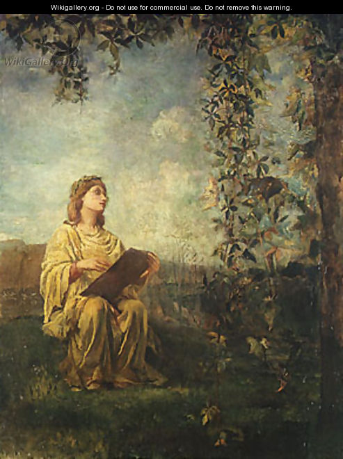 The Muse of Painting 1870 - Jeno Gabor