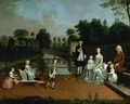 A Family Group on a Terrace in a Garden 1749 - Arthur William Devis