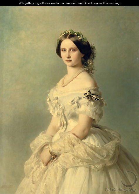 Portrait of Princess of Baden - Gerhard von Kügelgen
