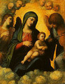 Madonna and Child in Glory with Angels - Correggio (Antonio Allegri)
