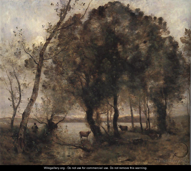 The Lake 1861 - Jean-Baptiste-Camille Corot