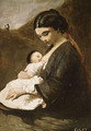 Mother and Child - Jean-Baptiste-Camille Corot