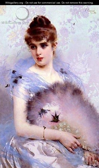 The Featherbed Fan - Vittorio Matteo Corcos