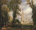Salisbury Cathedral From The Bishop's Garden 1826 - John Constable