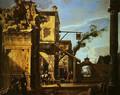 Architectural View with an Inn - Viviano Codazzi