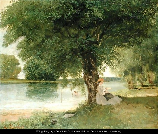 The Charente at Port Bertaud 1862 - Gustave Courbet