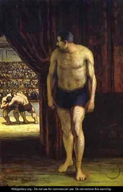 The Wrestler 1852-53 - Honoré Daumier