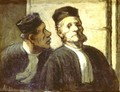 The two Attorneys - Honoré Daumier