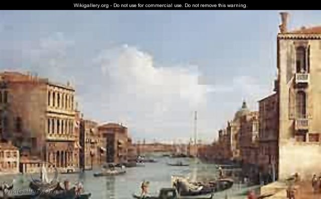 The Grand Canal From Campo S Vio Toward The Bacino 1729-34 - (Giovanni Antonio Canal) Canaletto