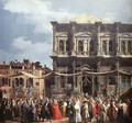 The Feast Day Of St Roch (Detail) C 1735 - (Giovanni Antonio Canal) Canaletto