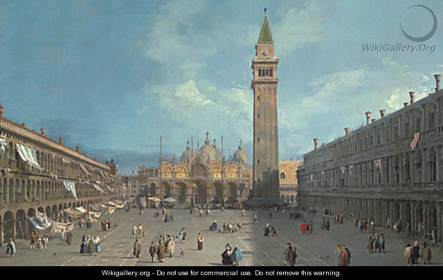 Piazza San Marco possibly late 1720s - (Giovanni Antonio Canal) Canaletto