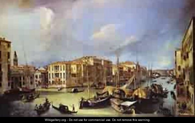 Grand Canal Looking North-East From The Palazzoorner-Spinelli - (Giovanni Antonio Canal) Canaletto