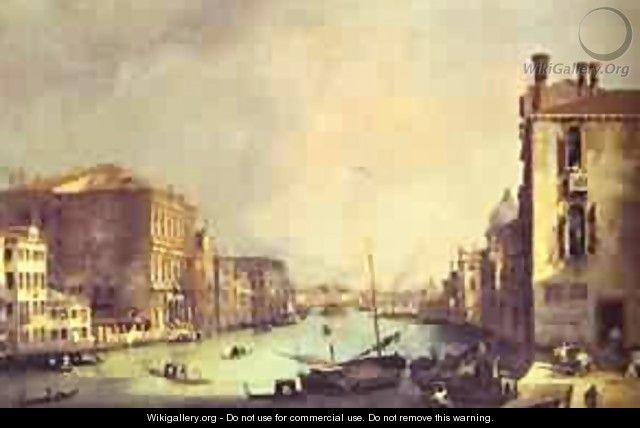 Grand Canal Looking East From Theampo San Vio 1725 - (Giovanni Antonio Canal) Canaletto