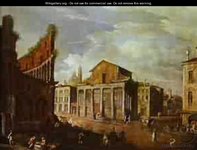 Church Of St Antony And St Phaustina In Rome 1749 - (Giovanni Antonio Canal) Canaletto