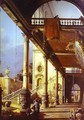 Capriccio Ofolonade And The Courtyard Of A Palace 1765 - (Giovanni Antonio Canal) Canaletto