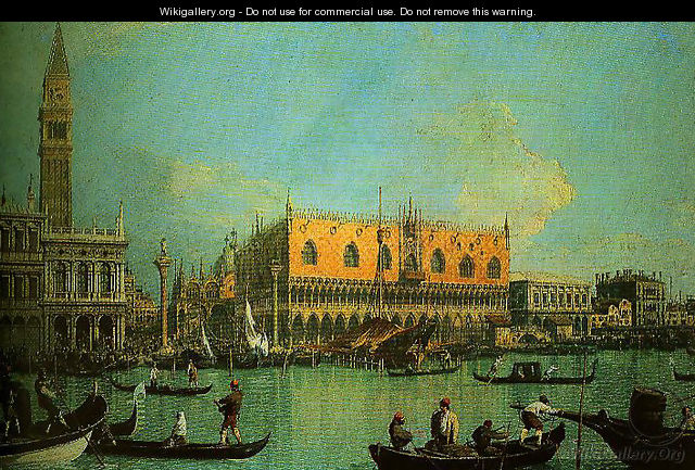 A View of the Ducal Palace in Venice - (Giovanni Antonio Canal) Canaletto