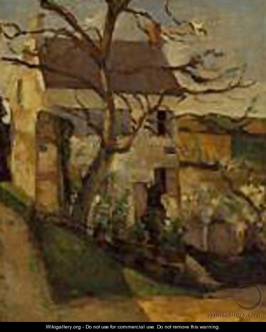 The House and the Tree 1873 187 - Paul Cezanne