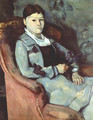 Artist's Wife in an Armchair - Paul Cezanne