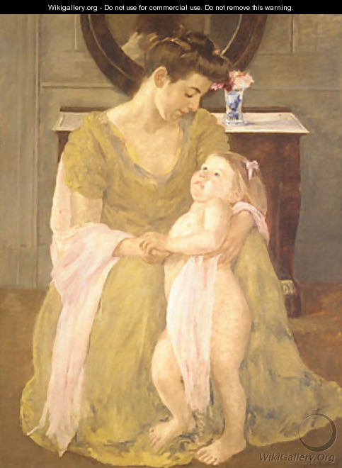 Mother and Child with a Rose Scarf 1908 - Mary Cassatt