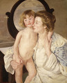 Mother and Child (The Oval Mirror) 1899 - Mary Cassatt